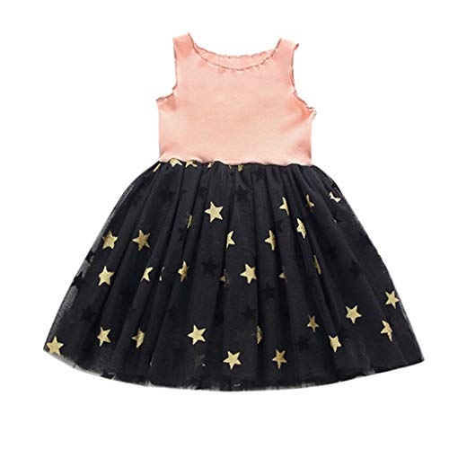 Toddler Kid Baby Girl Sleeveless Dress Star Tulle Party Princess Dresses Clothes