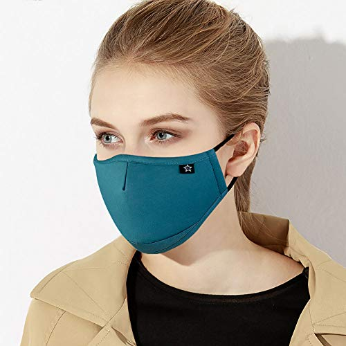 Washable Reusable Mouth Mask Cotton Anti Dust Half Face Mouth Mask for Men Women Dustproof With Adjustable Ear Loops