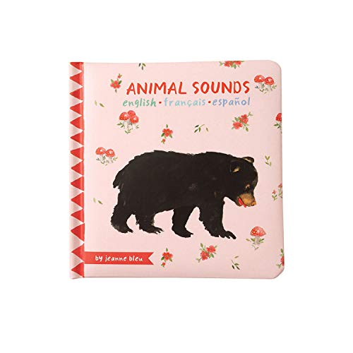 Manhattan Toy Animal Sounds Baby Board Book, Ages 6 Months & Up