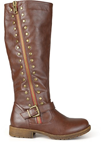 Brinley Co Women's Whirl Knee High Boot, Brown, 11 Regular US
