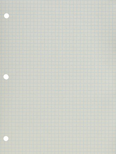School Smart Double Sided Grid Paper, 3 Hole Punched, 8-1/2 x 11 Inches, 1/4 Inch Rule, White, Pack of 500