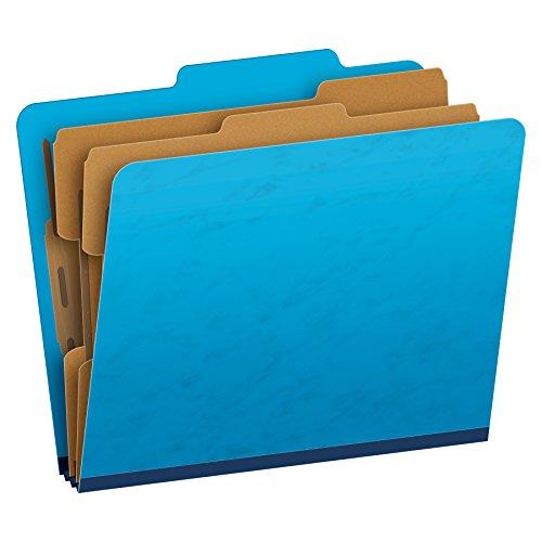 Pendaflex Pressguard Classification Folders, Letter Size, 6-Section, Light Blue, 10 per Box (1257LB)