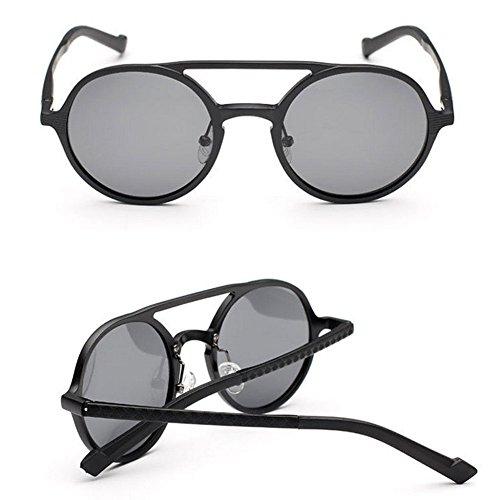 De De La De Marco Unisex Gold Magnesio Vendimia UV Redondo De Gafas Gafas Lentes Sol Moda De Negocios Protección Black Gafas Lentes Moda Polarizadas Sol De Sol Retro Aluminio De d6Idqw8