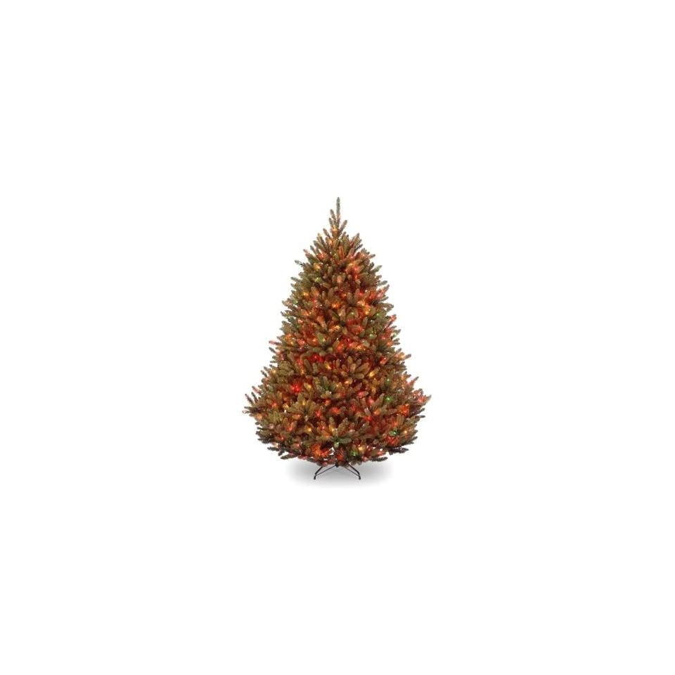 National Tree Company NAFFN1 301 75 7.5 Foot New Natural Fraser Fir Hinged Tree with 750 Multi Lights