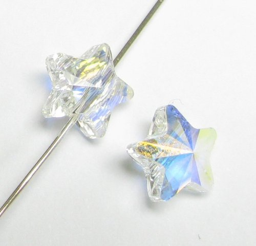 4 pcs Swarovski Crystal 5714 Star Bead Spacer Clear AB 8mm / Findings/Crystallized Element