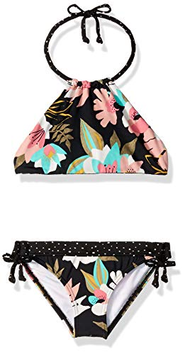 Billabong Girls' Night Bloom High Neck Bikini Set Multi 10 ()