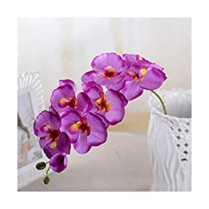 HANBINGPO Fashion Orchid Artificial Flowers DIY Artificial Butterfly Orchid Silk Flower Bouquet Phalaenopsis Wedding Home Decoration,Light Purple 95