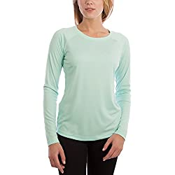 Vapor Apparel Women's UPF 50+ UV/Sun Protection Long Sleeve T-Shirt X-Large Seagrass