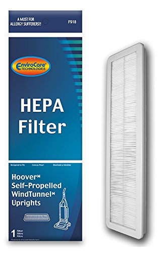 Final Filter for Hoover Windtunnel Pleated HEPA w/activated Charcoal Vacuum Filter, Upright, Self propelled Vacuum - Replacement Vacuum Filter Final