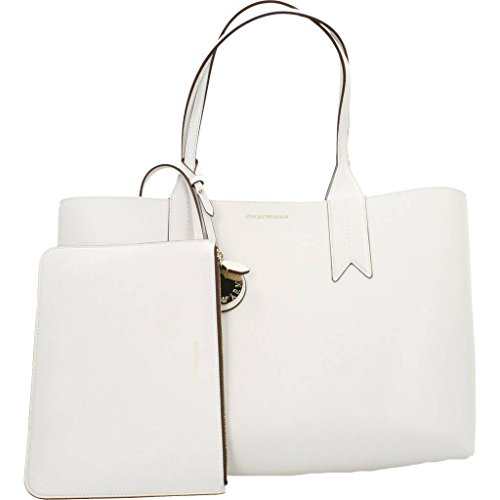 Women's Tote Shopping Armani Zucch 81649 carta Bianco Emporio Pouch Money With 5xwAt7qS