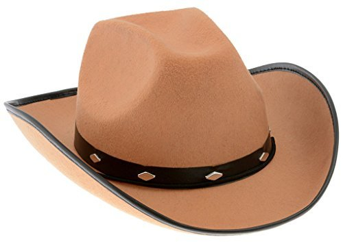 Kangaroo Tan Felt Cowboy Hat (Cheap Cowboy Party Hats)