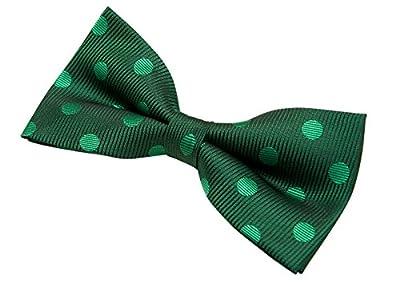 "Retreez Men's Stylish Polka Dots Textured Woven Microfiber Pre-tied Bow Tie (5"")"