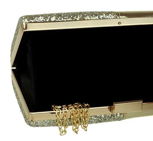 Material Mujer Para Sintético De Girly Cartera Handbags Dorado Mano HZwqIxv0