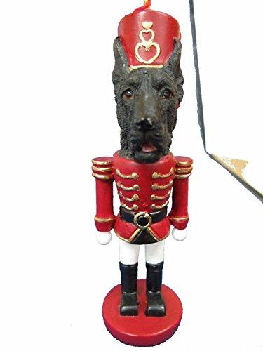 Great Dane Black Dog Soldier Holiday Nutcracker Ornament