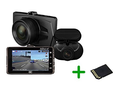 RSC Labs DUDUO | Dual-Channel Dashcam with Parking Surveillance Mode | Sony STARVIS powered | 16GB SD Card Included | #RSC-DUDUOE1-B For Sale