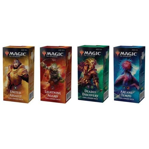- Magic the Gathering MTG 2019 Challenger Set of All 4 Decks