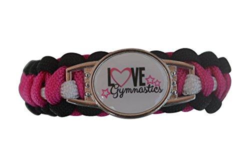 Gymnastics Bracelet- Paracord Bracelets for Girls- Gymnastics Jewelry For Gymnast ()
