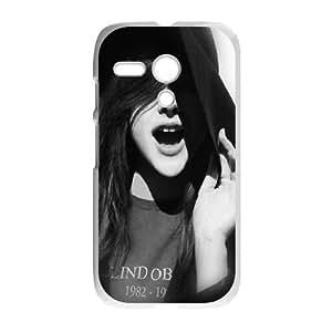 Motorola G Cell Phone Case White hd29 chloe grace moretz smile actress SUX_109884