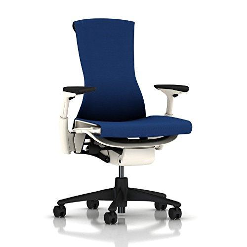 Herman Miller Embody Chair: Fully Adj Arms - White Frame/Gra