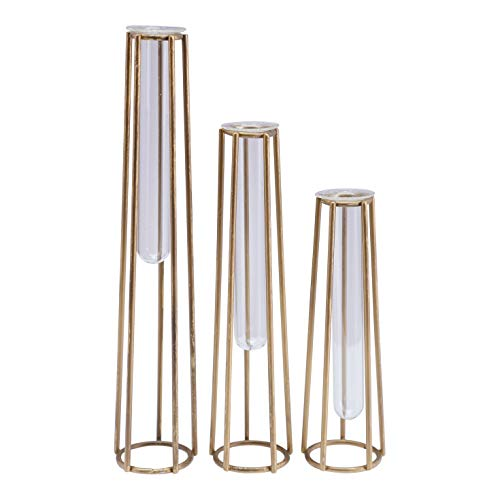 - Floor 9 Glass and Metal Vases (Asst. Set of 3)