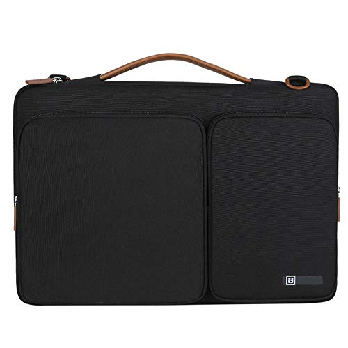 360° Protective Laptop Shoulder Bag for 13 Inch Notebook Computer,Ultraportable Protective Carrying Handbag Briefcase Sleeve Case with Special Patent and Accessory Pocket (380 x 275 x 70 mm, Black)