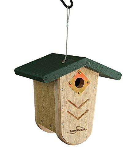 Kettle Moraine Hanging Moraine Bird House (Green) Wren & Chickadee House