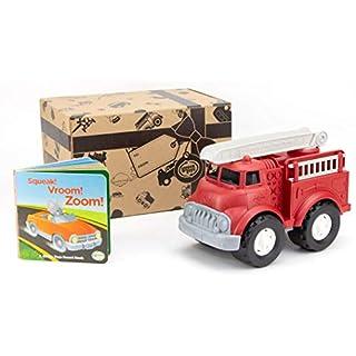 Green Toys Fire Truck & Sounds Board Book, (Model: FTKBB-1419)
