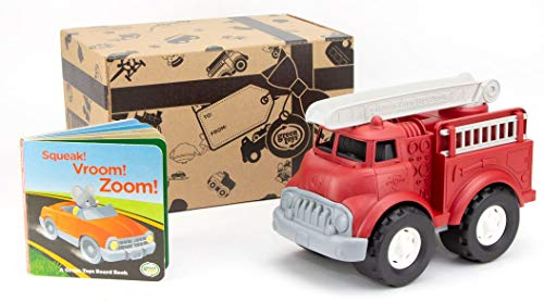 Cheapest Prices! Green Toys Fire Truck & Sounds Board Book