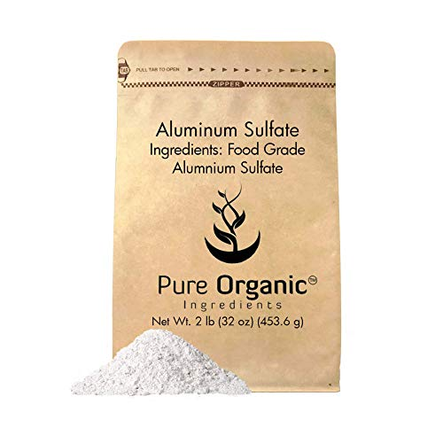 Aluminum Sulfate (2 lb.) by Pure Organic Ingredients, Pure Dry Alum, Food Grade, Soil Acidifier, Hide Tanner, Water Treatment