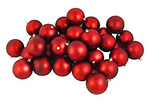 Amazon.com: 60ct Matte Red Hot Shatterproof Christmas Ball ...