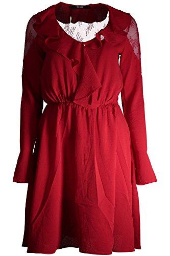 C512 Guess Kleid Marilena Rosso Damen AxPTHq8a