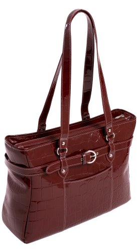 Siamod SERRA 35266 Red Leather Ladies' Laptop Tote by Siamod