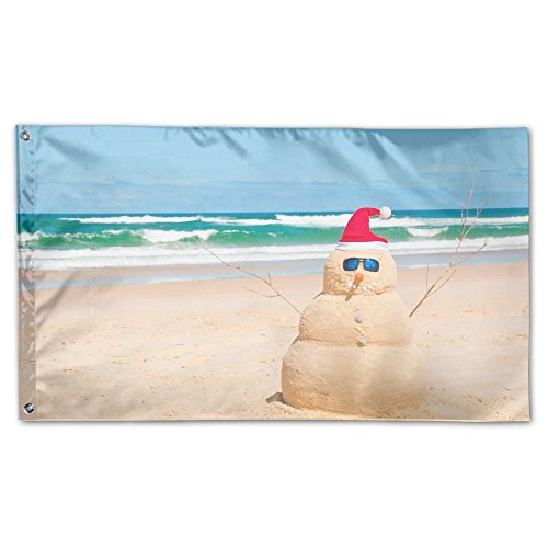 Garden Flag Australia Beach Snowman Outdoor Yard Home Flag Wall Lawn Banner Polyester Flag Decoration 3' X 5' -