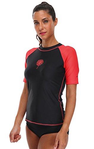 Attraco ladies rash guard shirt uv rushguard upf 50 rash guard women tops 2xl