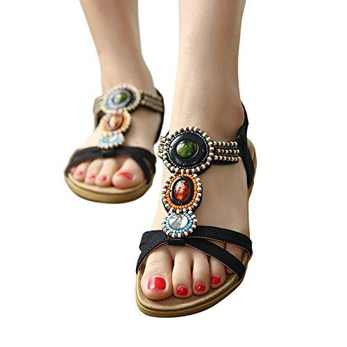 Moda de verano mujer zapatillas, chanclas y sandalias de playa, zapatillas antideslizante,44,vino tinto