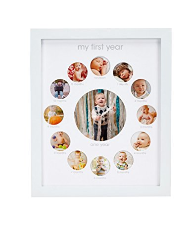 Pearhead-My-First-Year-Monthly-Photo-Baby-Keepsake-Frame-White