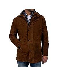 Robert Taylor Brown Suede Genuine Leather Sheriff Walt Longmire Coat Jacket