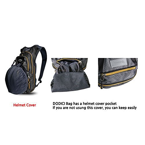 Dodici Cycling Bicycle Outdoor Sports Backpack Riding Bag Water Pack Rain Cover-gray