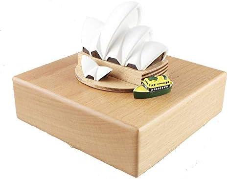 HMBYYHK5 Cajas Musicales Caja Musical de Madera Ópera de Sydney con un pequeño Barco en Movimiento, Caja de música for niños y Amigos  Reproduce la canción Castle I: Amazon.es: Hogar