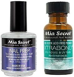 +++ Mia Secret Professional Natural Nail Prep Dehydrate & Xtra Bond Primer 0.5 oz