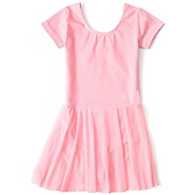 - 41gdZLbiPhL - Apexsolaire Girls' Skirted Ballet and Tap Leotard