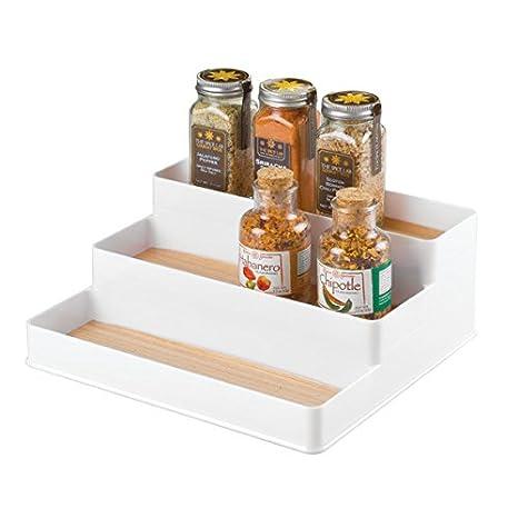 mDesign portaspezie per credenza da cucina - portaspezie da cucina ...