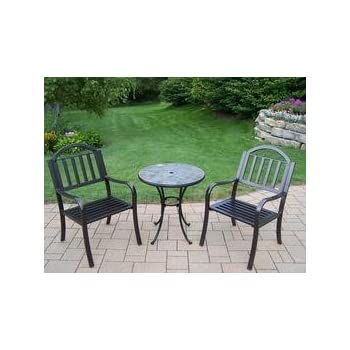 Amazon.com: Oakland Living Stone Art Rochester 3-Piece ... on Oakland Living Bistro Set id=39893