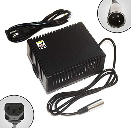 ACI Super Power Battery Charger (5.0A) with XLR Connector for Electric Scooters and Wheelchairs - Fit for Pride Mobility, Jazzy Power Chair, Drive Medical, Golden Technologies, Schwinn, Shoprider ()