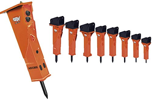 AMERICAN PNEUMATIC TOOLS 3363115767 Model AB1200 - Ab Series Hydraulic Breakers with Back How Bracket Hoses and Tool, Hybrid Technology, Gas/Oil