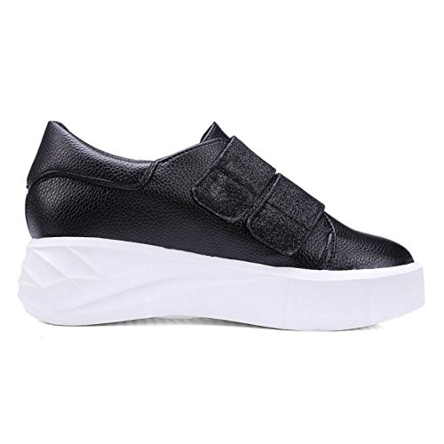 Sole Sneaker Thick Pumps Black TAOFFEN Fashion Women qgwRfxnZU