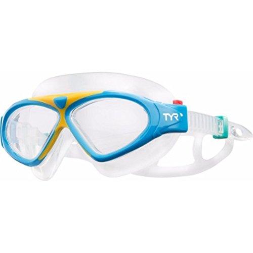 TYR Magna Swim Mask Goggles, Blue/Orange, -