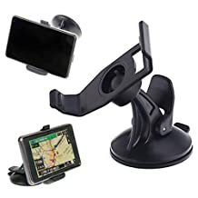 HDE Garmin Nuvi GPS Windshield Ball & Socket Suction Cup Mount & Bracket Unit Holster Bundle
