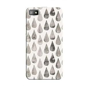 Cover It Up - White Dark Drops BlackBerry Z10 Hard case