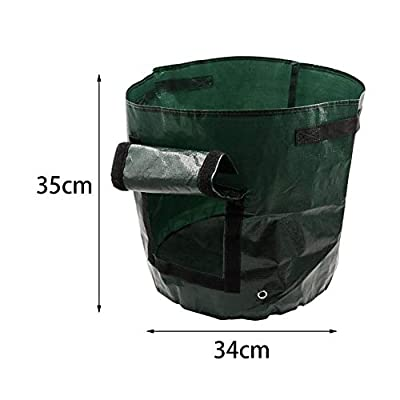 guanguan Grow Bags, Potato Growing Bag with Handles, Breathable Planter Bags, Durable Planting Pot for Carrot Onion Vegetables Garden Home Farming by (35cm45cm) Relaxing : Garden & Outdoor